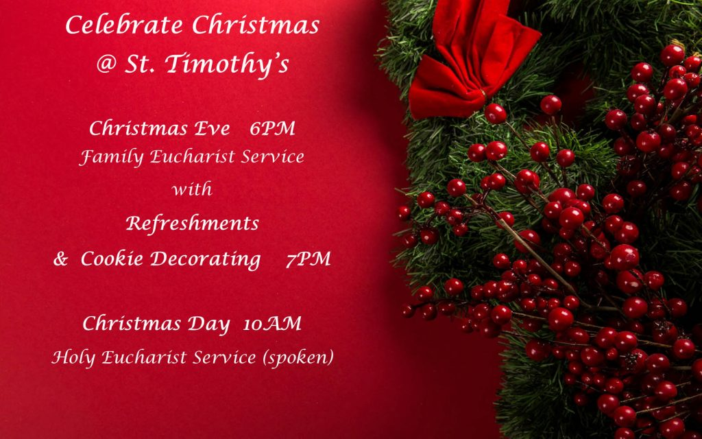 Christmas Services Schedule