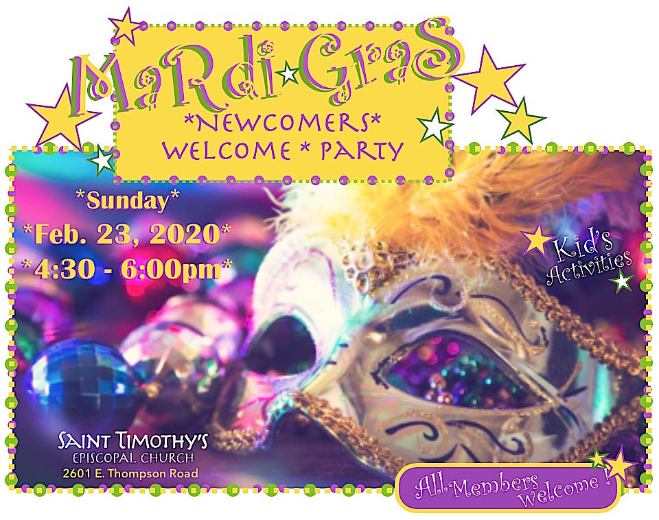 Mardi Gras Newcomers Welcome Party